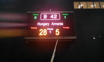 Унгария – Армения 28:5 на полувремето