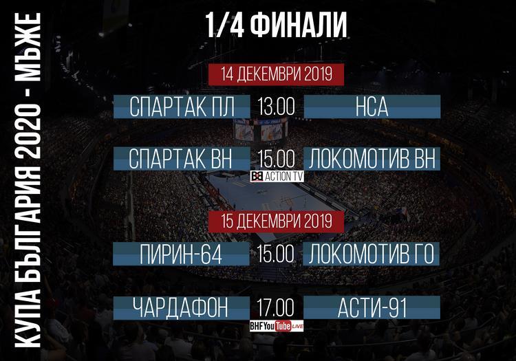 Полуфиналистите в турнира Купа България при двата пола ще станат известни този уикенд